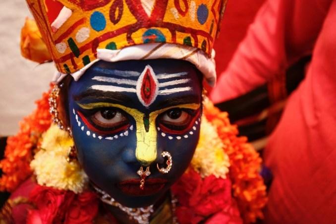 Decorated Hindu Gilr
