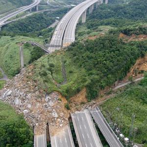 Landslide covers National Highway in Taiwan- pictures of the year 2010 Telegraph