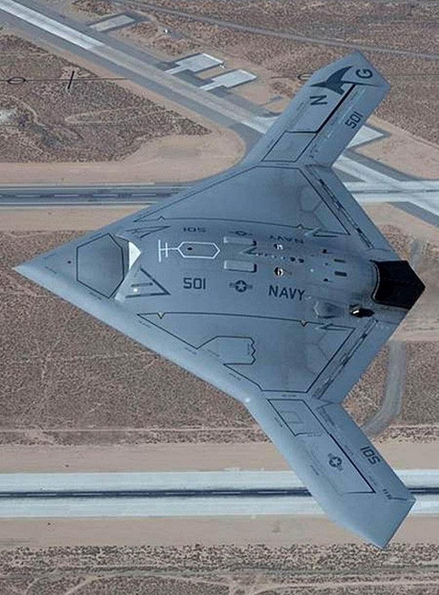 New View Of Stealthy Drone X 47b