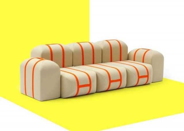 Self-made Seat sofa by Matali Crasset