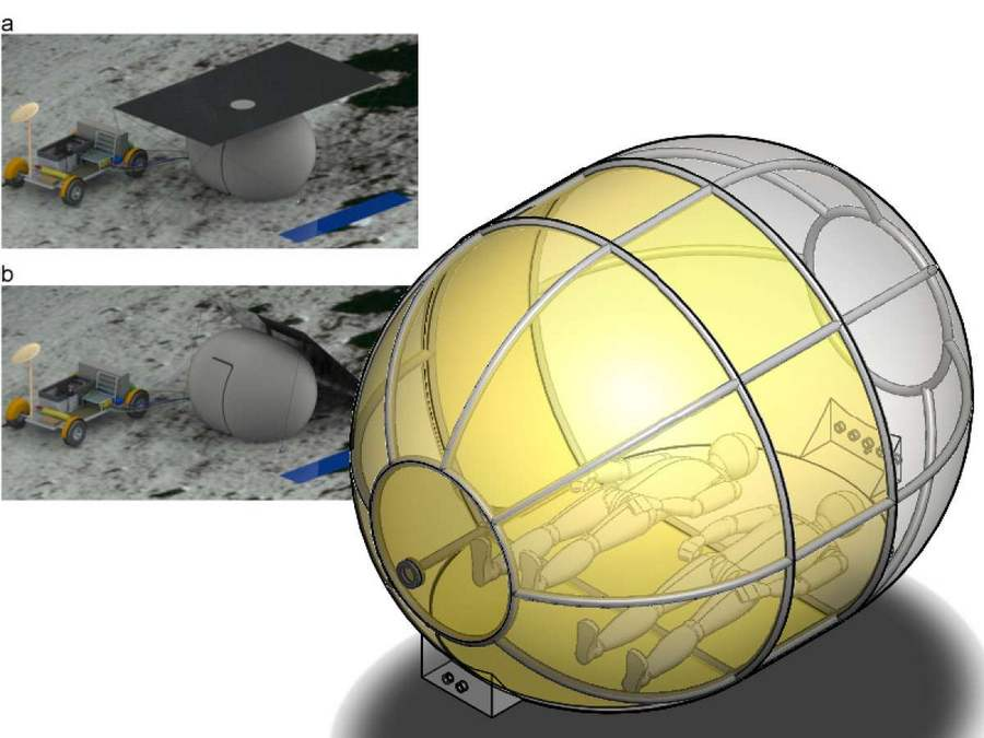 Camping on the Moon with an Inflatable Tent