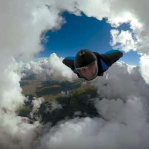 Epic Cloud Cave Wingsuit Flight