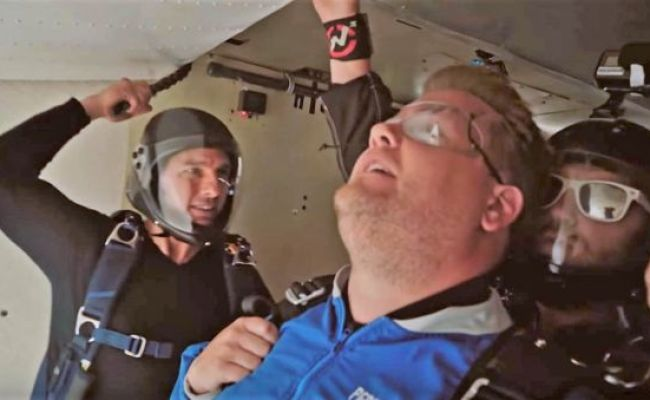 Tom Cruise Forces James Corden To Skydive Wordlesstech