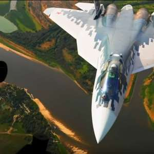 Su-57 at ultra-low altitude - video