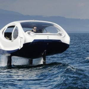 Bubble Electric Hydrofoiling Taxis in Miami