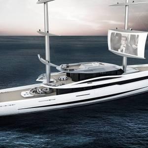 Vela 80m futuristic sailing yacht