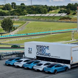 Porsche rolls out High-power charging trucks for Taycan