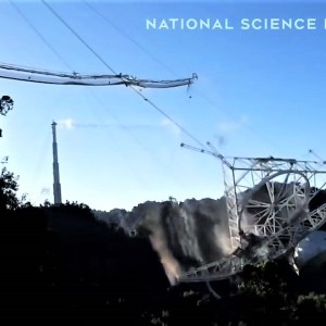 The Dramatic moment of Arecibo Observatory Collapse - video