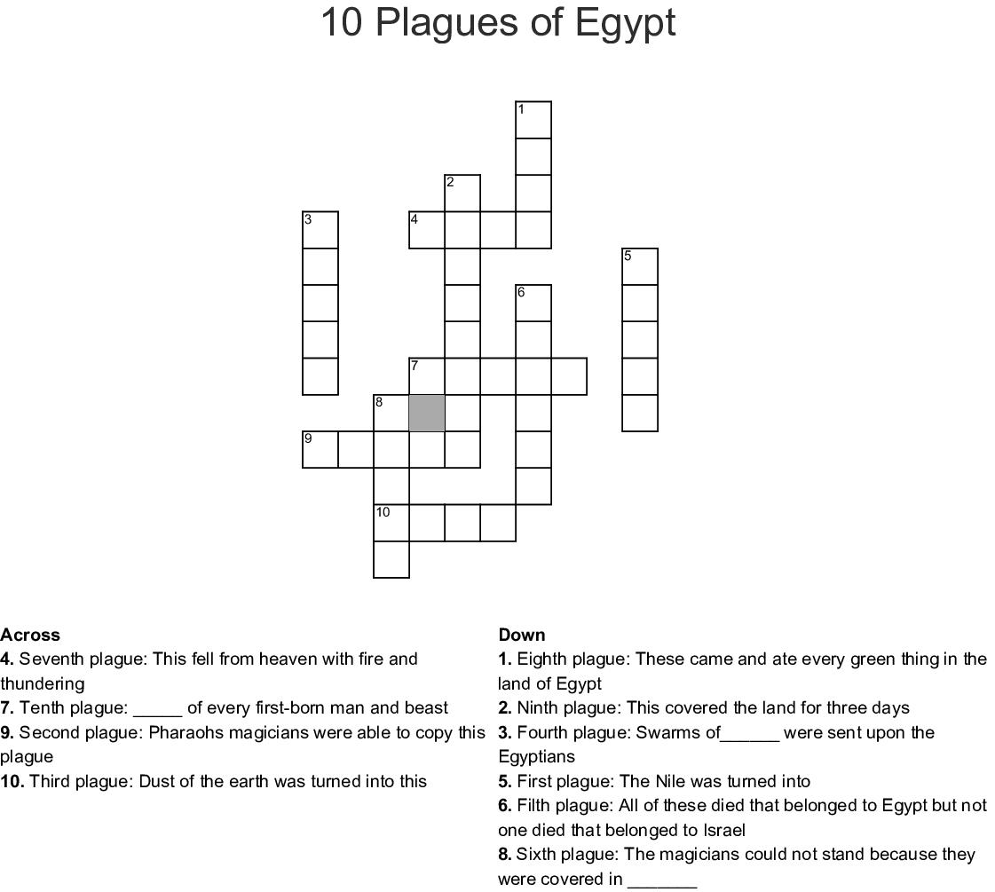 10 Plagues Of Egypt Crossword