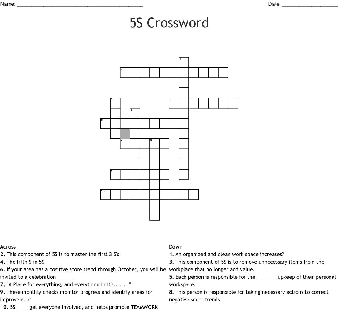 5s Crossword