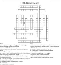 8th Grade Math Crossword - WordMint [ 1236 x 1121 Pixel ]
