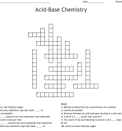 acid base chemistry crossword [ 1121 x 1032 Pixel ]
