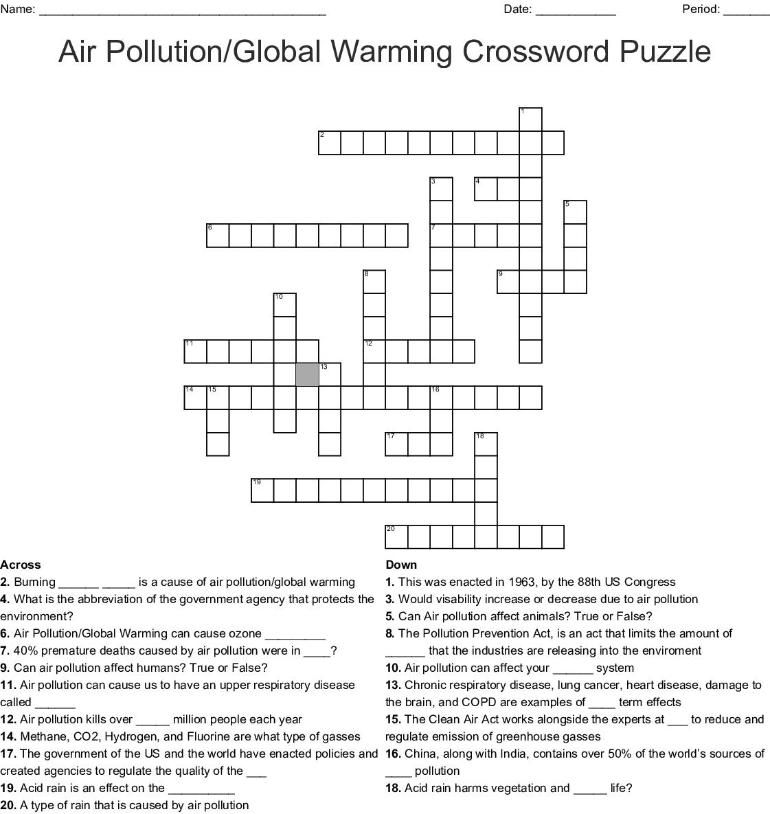 Fuel System Crossword