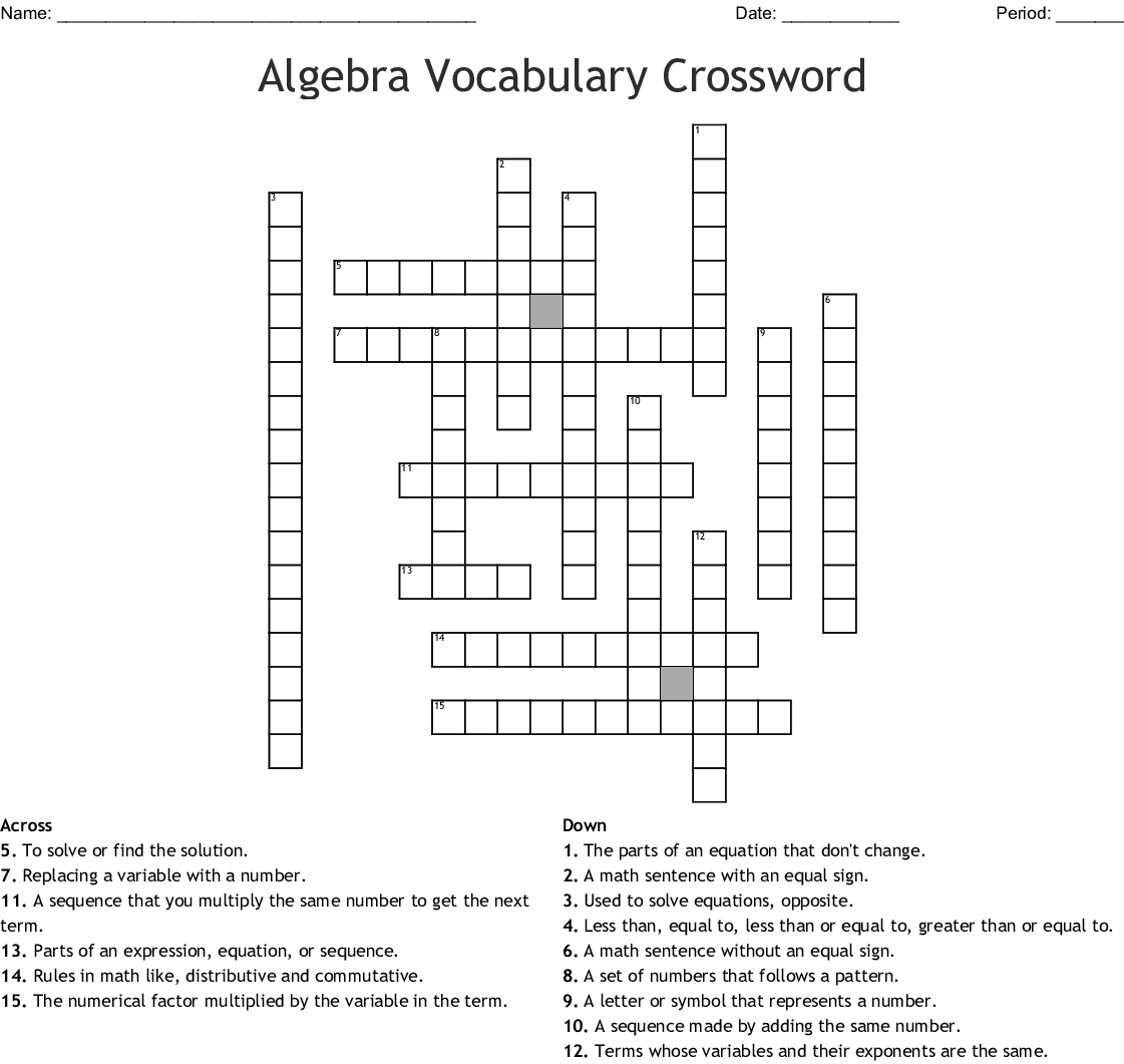 Crossword Puzzle Maker Final Puzzle Answers