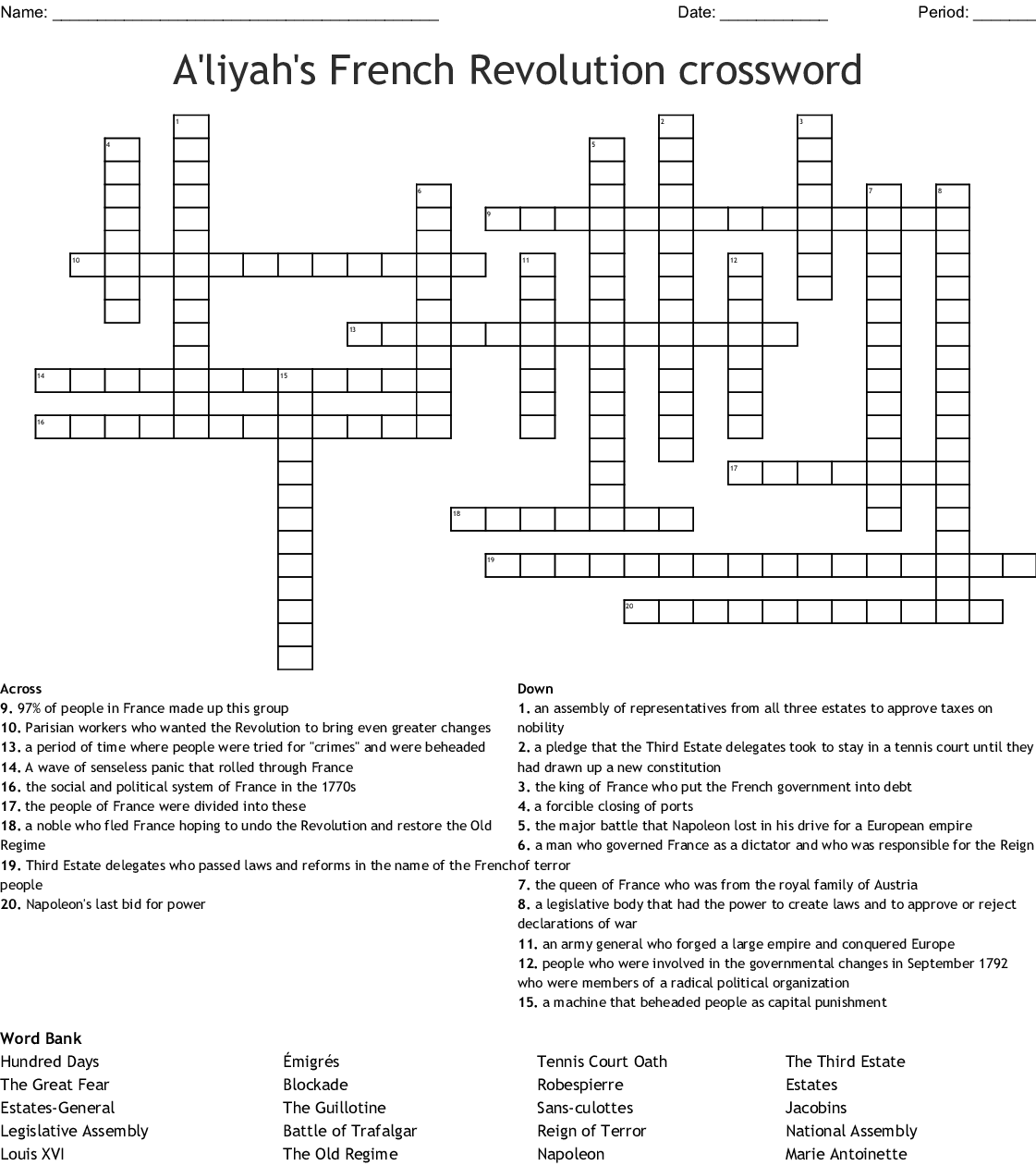 The Three Estates Of French Society Worksheet Answers