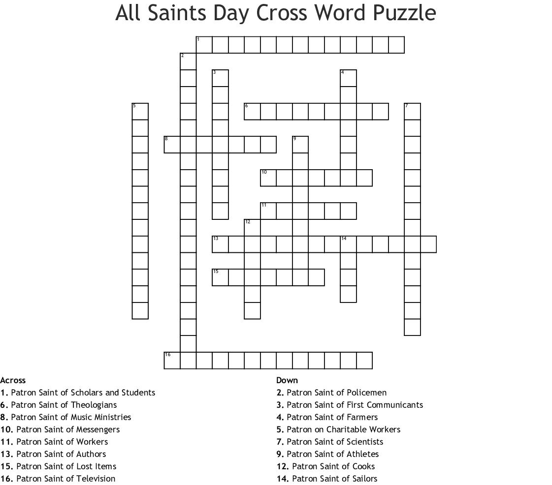 Catholic Saints Word Search