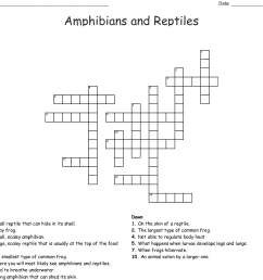 amphibians and reptiles crossword [ 1121 x 1057 Pixel ]