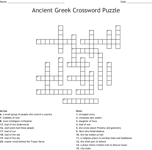 small resolution of Ancient Greece Puzzles Worksheets   Printable Worksheets and Activities for  Teachers