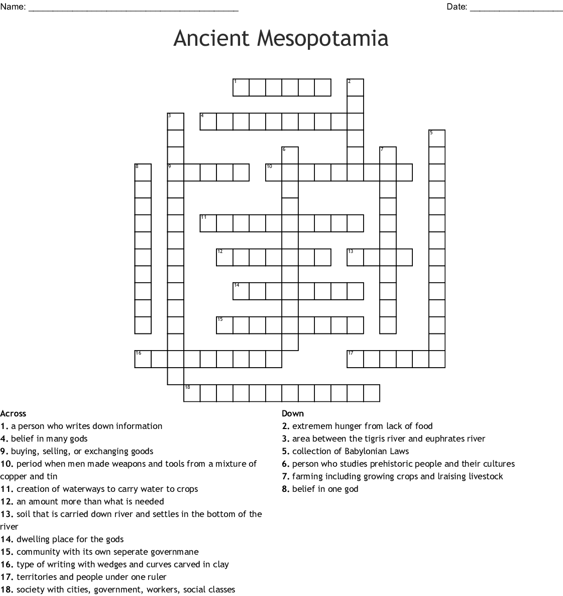 hight resolution of Ancient Mesopotamia Worksheet Answers - Promotiontablecovers