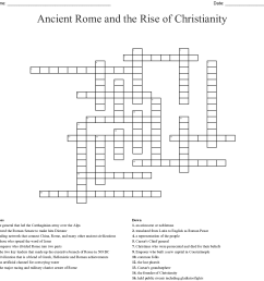 ancient rome and the rise of christianity crossword [ 1121 x 1135 Pixel ]