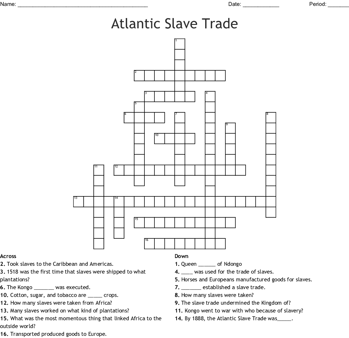 The Age Of Exploration Crossword