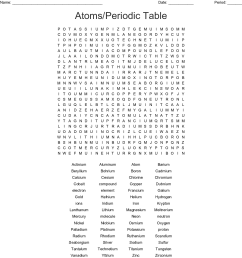 atoms periodic table word search [ 1121 x 1200 Pixel ]