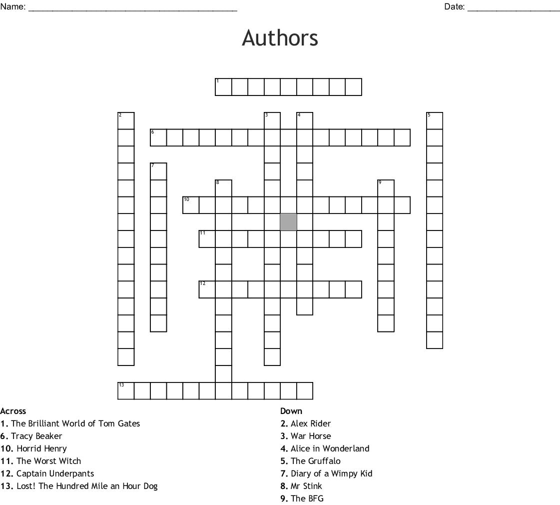 Children's Literature Crosswords, Word Searches, Bingo