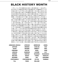Free Printable Black History Month Word Search - The Best Picture History [ 1050 x 1121 Pixel ]