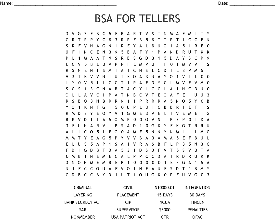 Bsa Puzzle Word Search