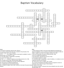 baptism vocabulary crossword [ 1121 x 1244 Pixel ]