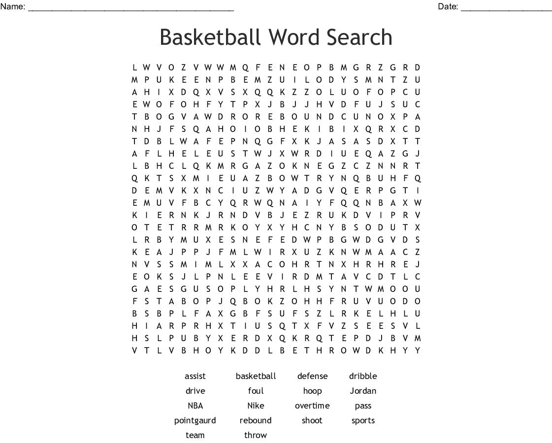 Fast Break Word Search
