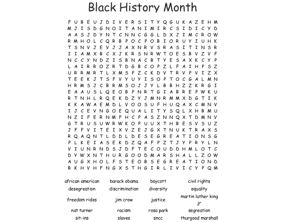 medium resolution of Free Printable Black History Month Word Search - The Best Picture History