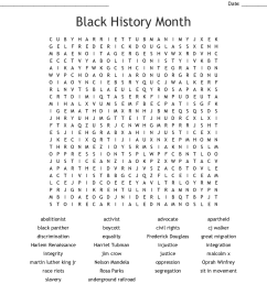 Black History Month Word Search Kids - The Best Picture History [ 990 x 1121 Pixel ]