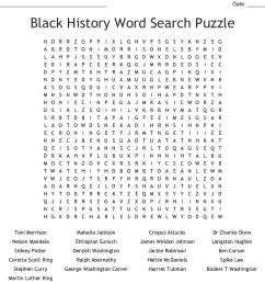 Free Printable Black History Month Word Search - The Best Picture History [ 930 x 1121 Pixel ]