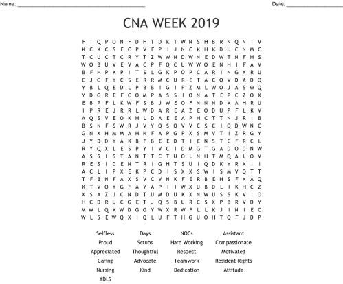 small resolution of cna week 2019 word search