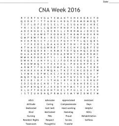 cna week 2016 word search [ 1121 x 960 Pixel ]