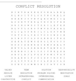 Resolve Conflict Worksheet   Printable Worksheets and Activities for  Teachers [ 932 x 1121 Pixel ]