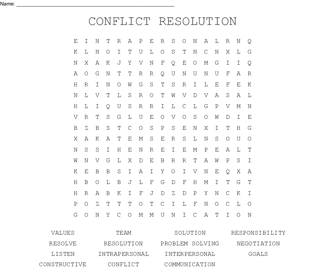 hight resolution of Resolve Conflict Worksheet   Printable Worksheets and Activities for  Teachers
