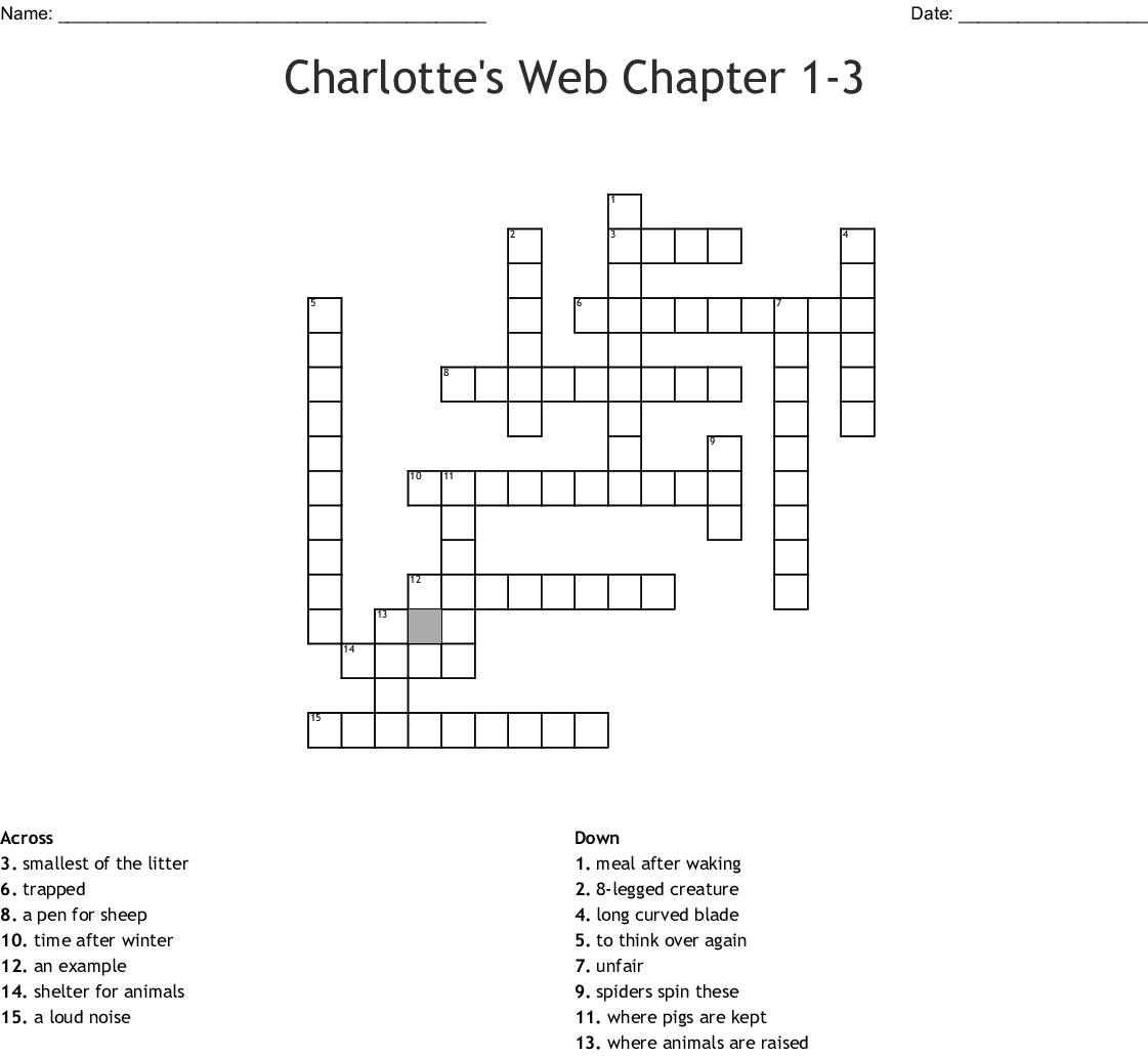 Charlotte S Web Crossword