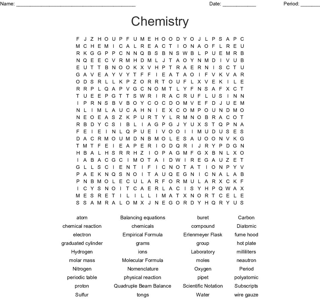 Unit 3 Moles Crossword