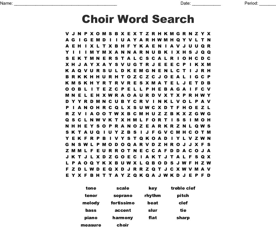 Music Word Search Printable That Are Slobbery