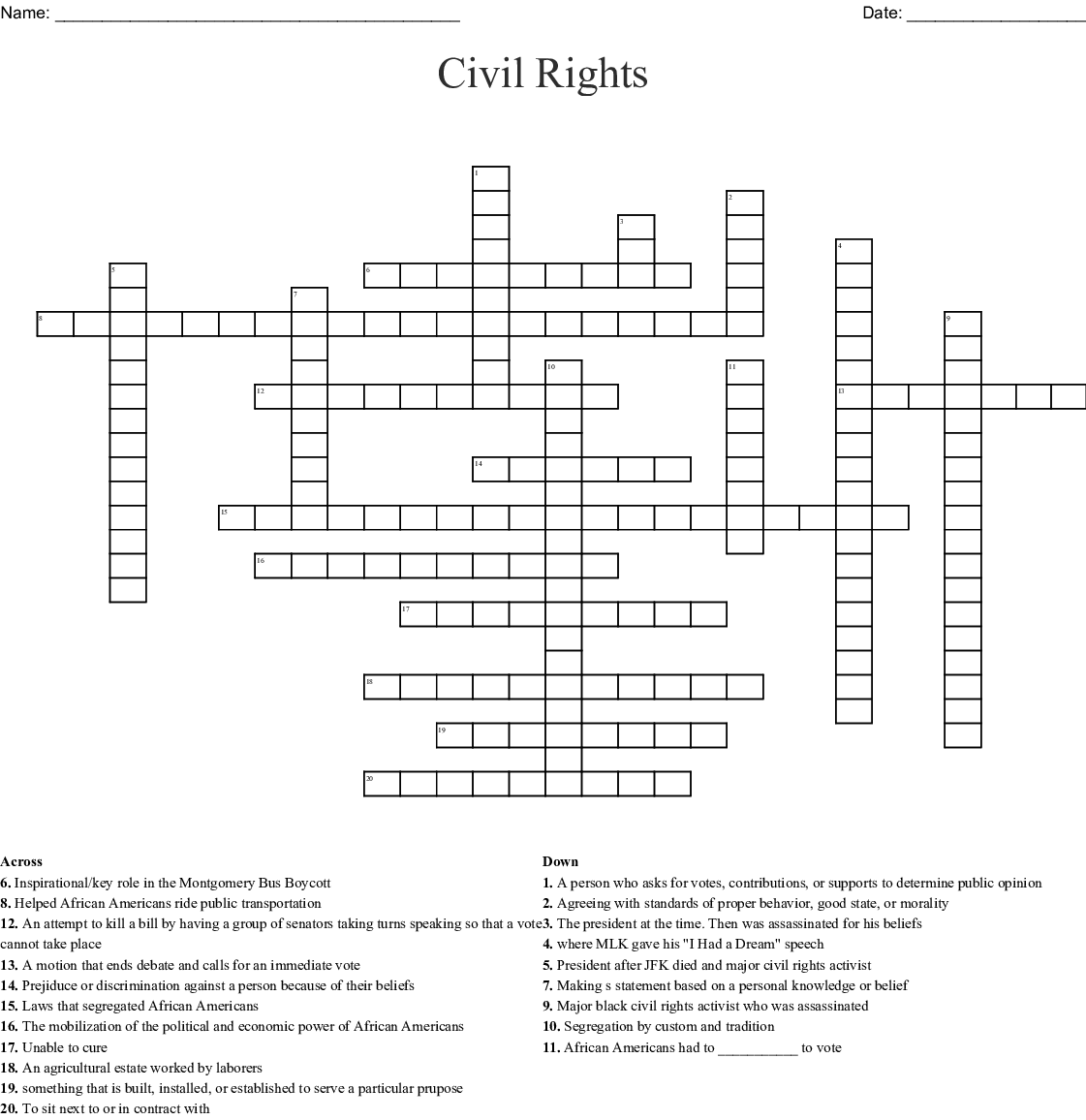 Apartheid South Africa And Human Rights Word Search