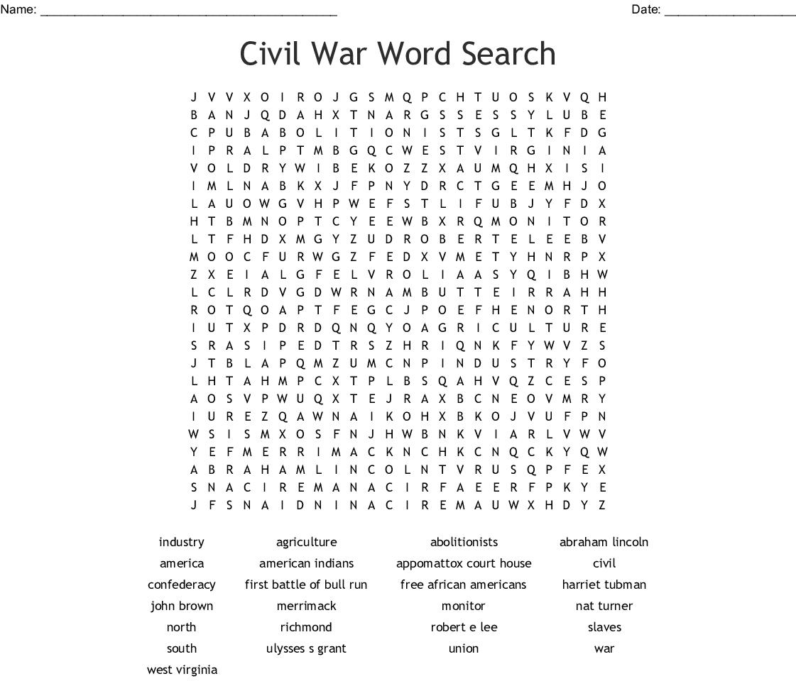 America The Story Of Us Civil War Worksheet Answer Key