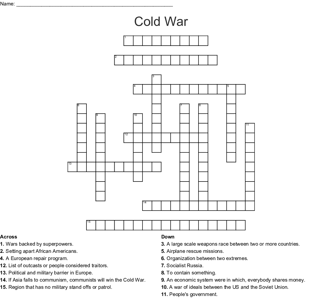 Korean War Crossword Puzzle