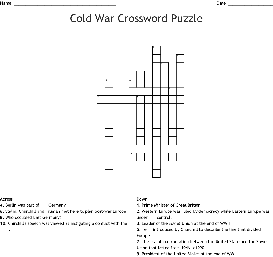 The Cold War Crossword