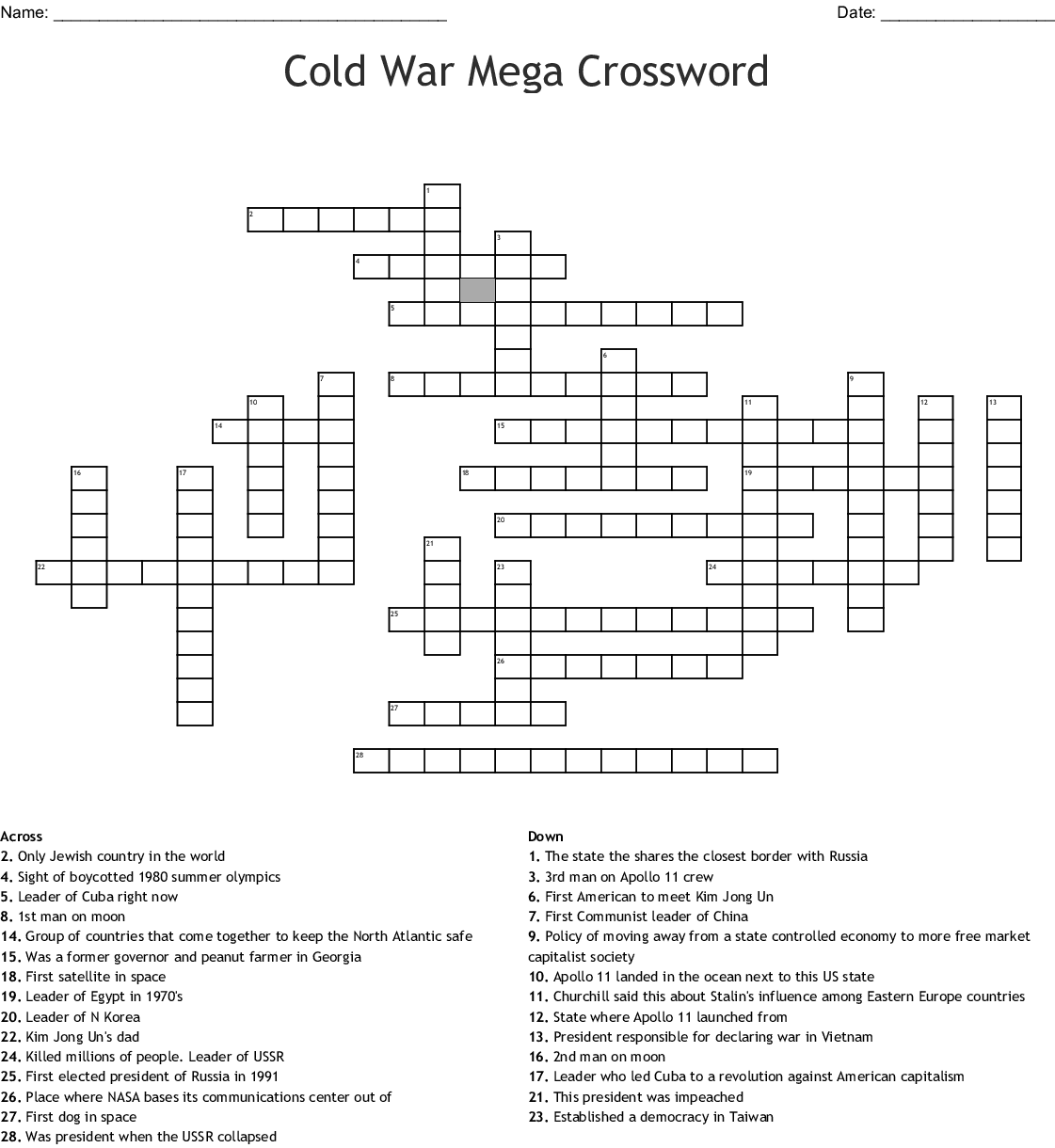 Apollo 11 Crossword