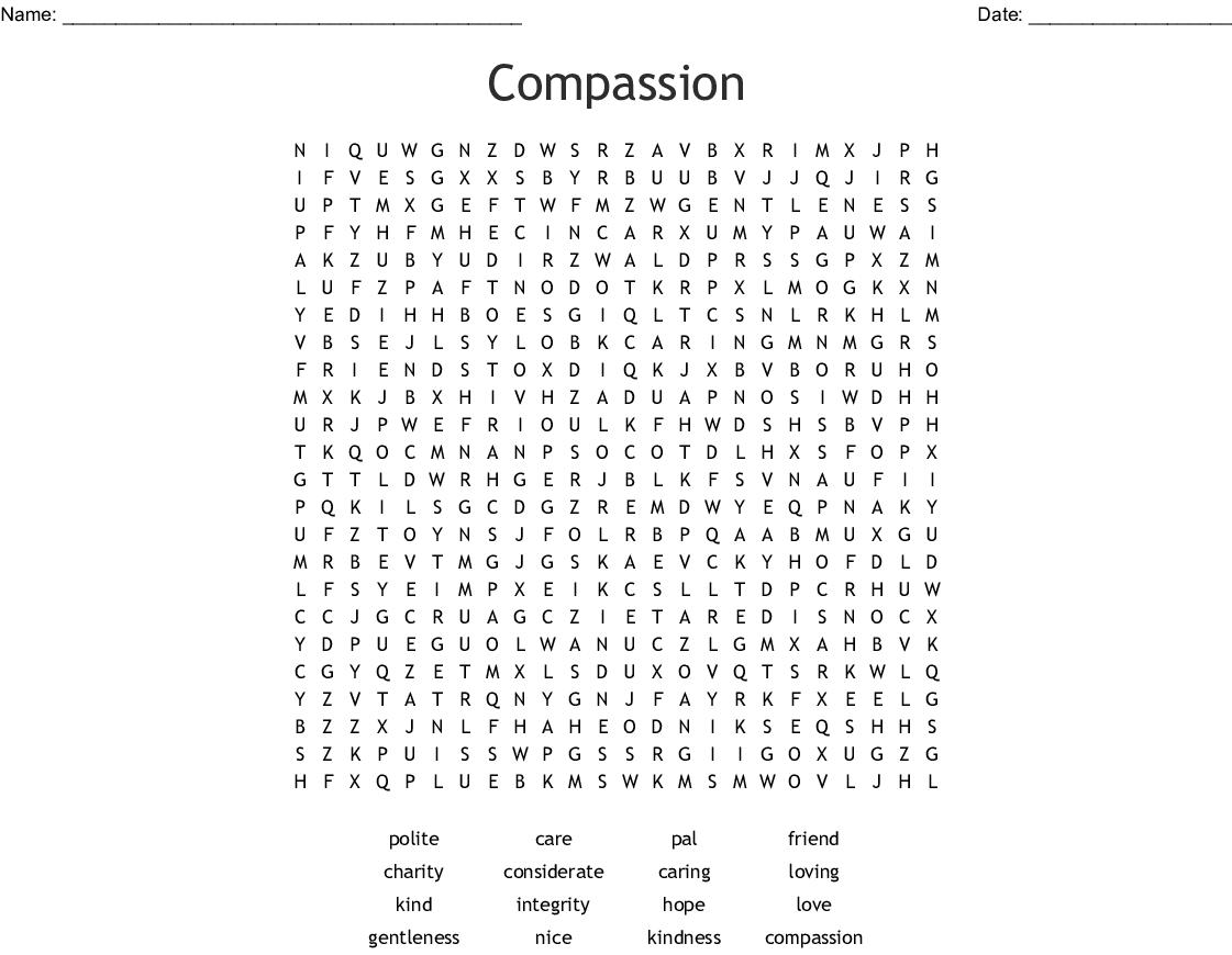 Compassion Word Search