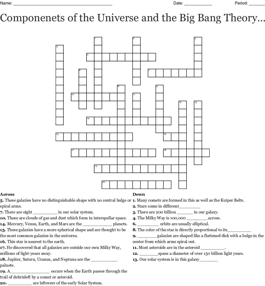 Worksheet Universe