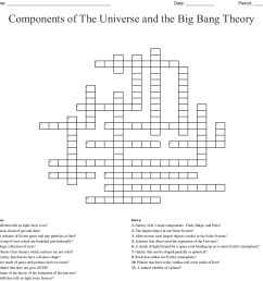 Components of The Universe and the Big Bang Theory Crossword - WordMint [ 1135 x 1121 Pixel ]