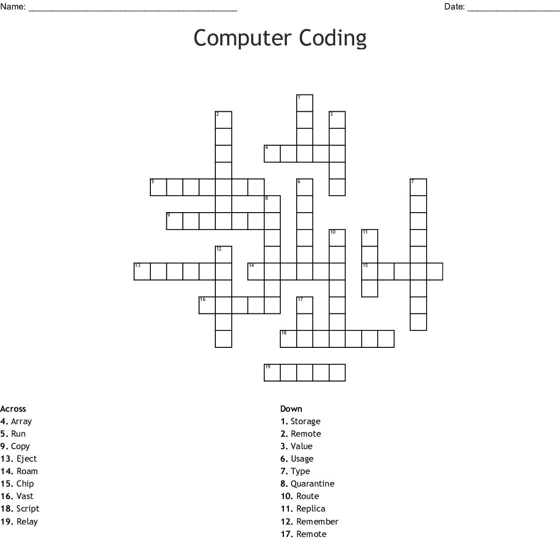 Computers & Electronics Crosswords, Word Searches, Bingo